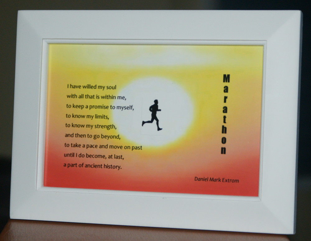 Marathon V1 White Frame 6x4 inches