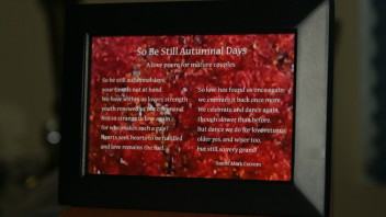 So Be Still Autumnal Days: A Photo Poem for the Mature Couple. 6×4 inches.