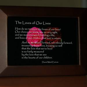 Loves of Our Lives V4. Brown Frame. 6x4 Roses. Children.