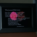 Loves of Our Lives V4 Roses. Children. Black Frame 6x4