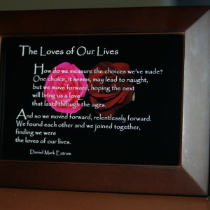 Loves of Our Lives. V2. Brown Frame. 6x4. Roses.