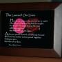 Loves of Our Lives. V2. Brown Frame. 6x4. Roses.