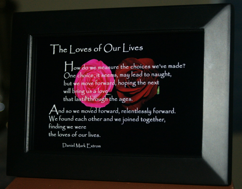 Loves of Our Lives V2 Black Frame 6x4 Roses