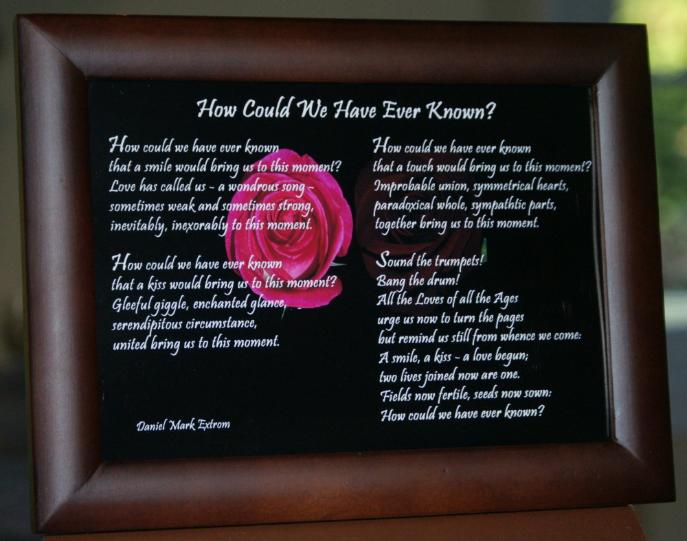 How Could We Have Ever Known? Brown Frame 7x5 inches