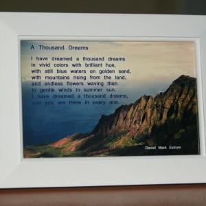 A Thousand Dreams White Frame 6x4 Ocean View