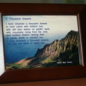 A Thousand Dreams Brown Frame Ocean View 6x4