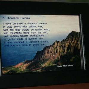 A Thousand Dreams Black Frame Ocean View 6x4