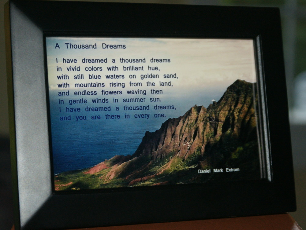 A Thousand Dreams Black Frame Ocean View 6x4