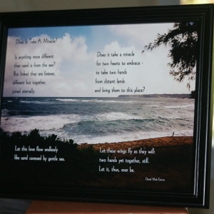 Does It Take A Miracle? Black Frame 10x8 Ocean