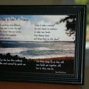 Does It Take A Miracle? Black Frame 7x5 Ocean
