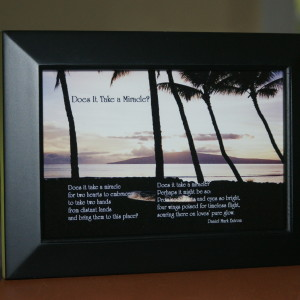 Does It Take A Miracle? Black Frame 6x4 Trees/Ocean