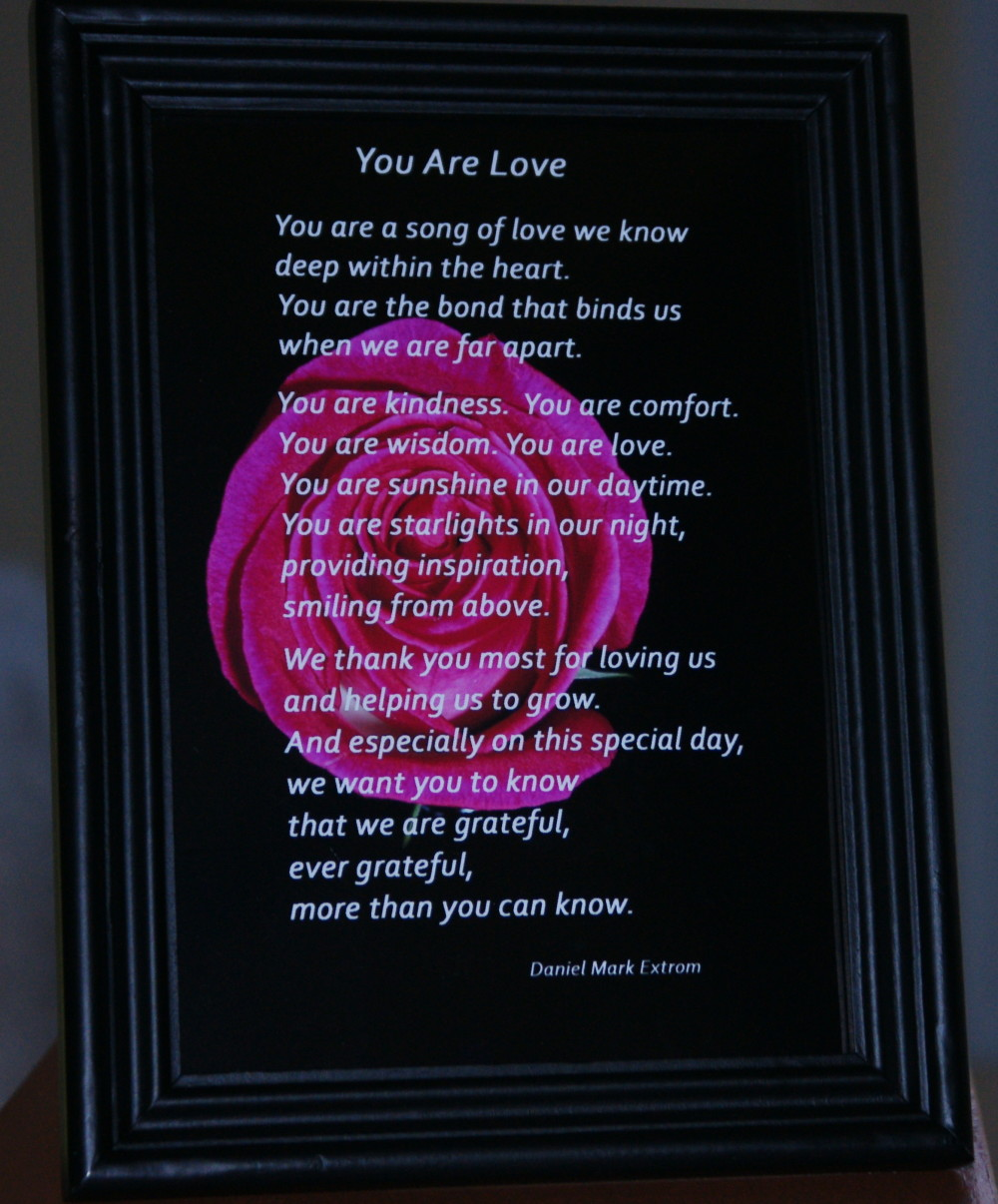 """""""You are a song of love we know . . ."""""""