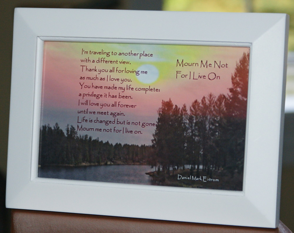 Mourn Me Not Version 3 White Frame 6x4
