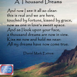 A Love Poem.  A Thousand Dreams