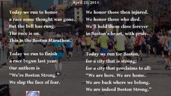 The Boston Marathon: Boston Strong