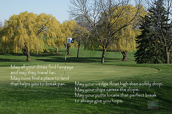 Golfer's Blessing 6x4 inches